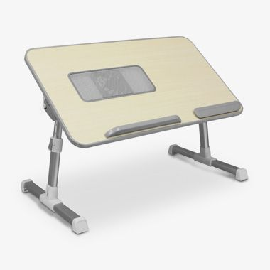 Adjustable Ergonomic Laptop Cooling Table with Fan, thumbnail