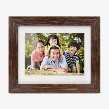 8 inch Distressed Wood Digital Photo Frame with Auto Slideshow Feature , thumbnail