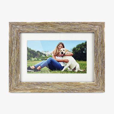 Distressed Wood Digital Photo Frame with Automatic Slideshow - 7 inch, thumbnail
