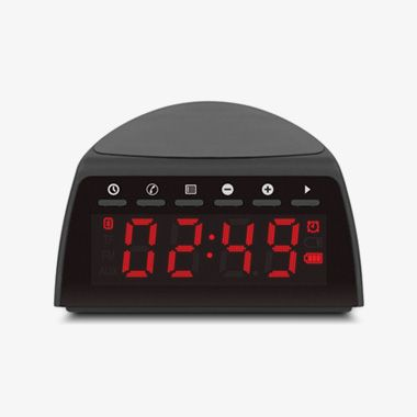 Qi Wireless Charging FM Clock Radio with Bluetooth Streaming, thumbnail
