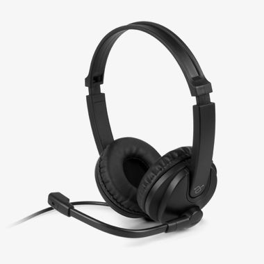 Wired USB Stereo Headset with Noise Cancelling Boom Mic and In-Line Controls, thumbnail