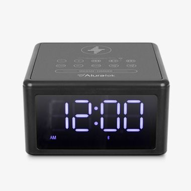 Wireless Charging FM Clock Radio with Bluetooth Streaming, thumbnail