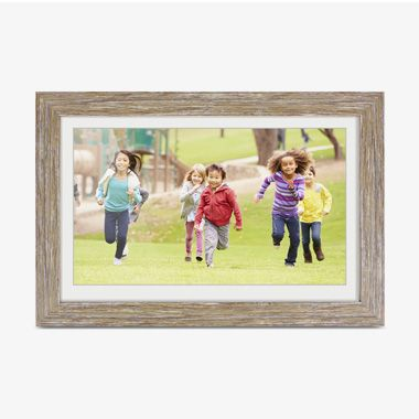 Distressed Wood WiFi Digital Photo Frame with Touchscreen LCD Display and 16GB Built-in Memory - 13.3 inch, thumbnail