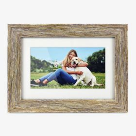 7 inch Distressed Wood Digital Photo Frame with Auto Slideshow Feature , thumbnail