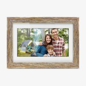 10 inch Distressed Wood Digital Photo Frame with Auto Slideshow Feature, thumbnail