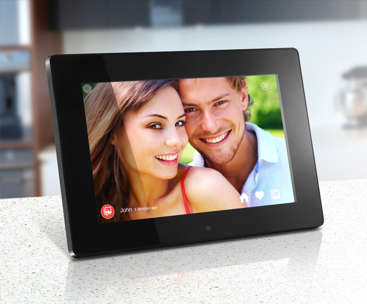digital photo frame on table