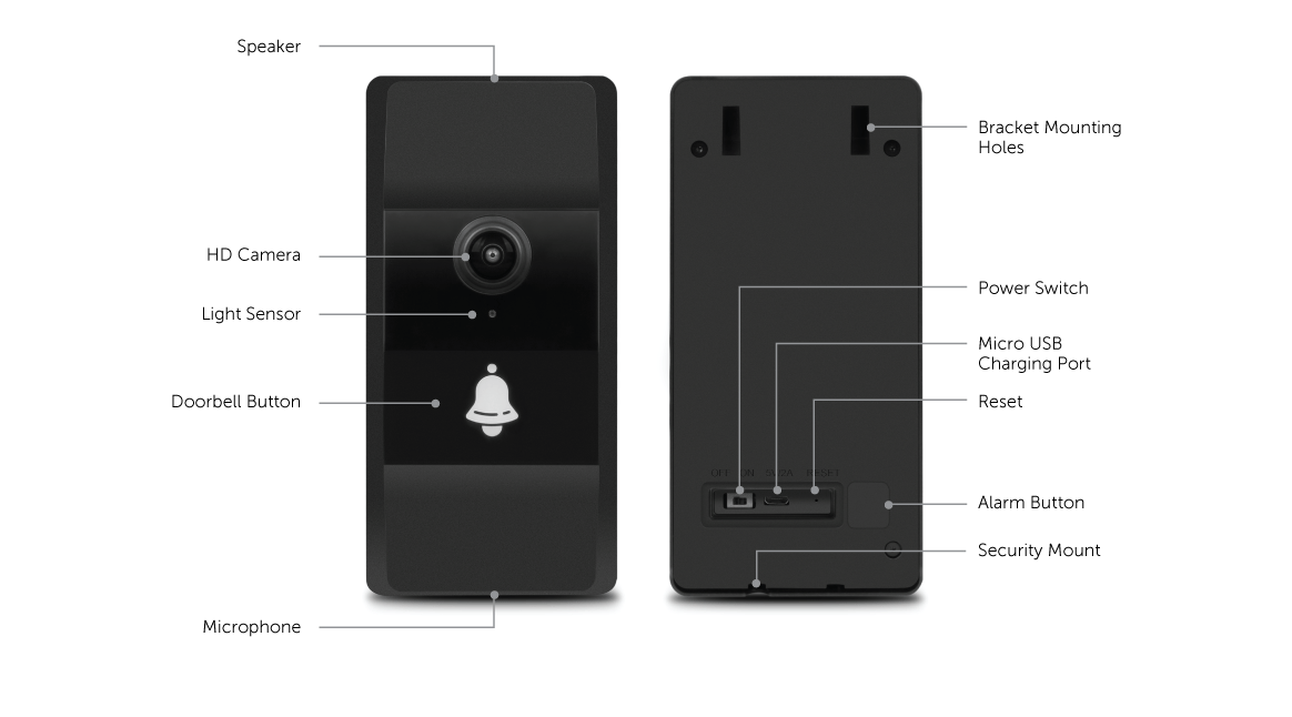 WiFi Video Doorbell with Wireless Installation application
