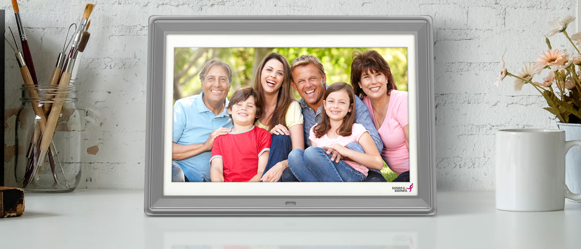 Share Your Best Memories with the Susan G. Komen Digital Photo Frame