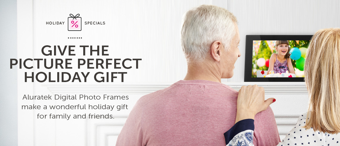 An Aluratek WiFi Digital Photo Frame makes the picture perfect gift.
