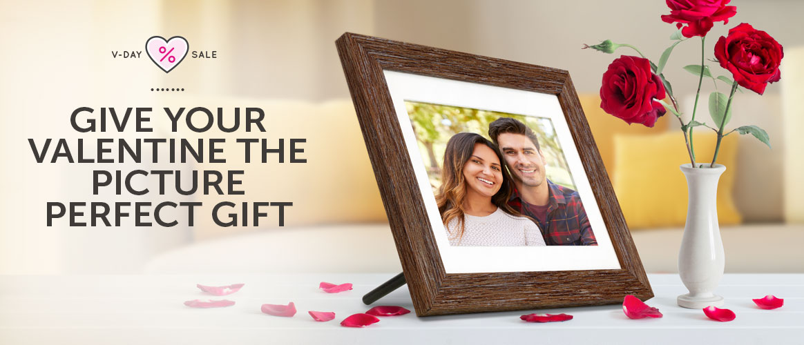 An Aluratek WiFi Digital Photo Frame makes the picture perfect gift for Valentines.
